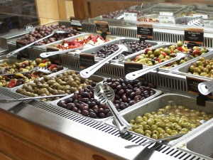 Only half of their sizeable olive bar
