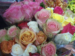 Roses from the Wegmans florist